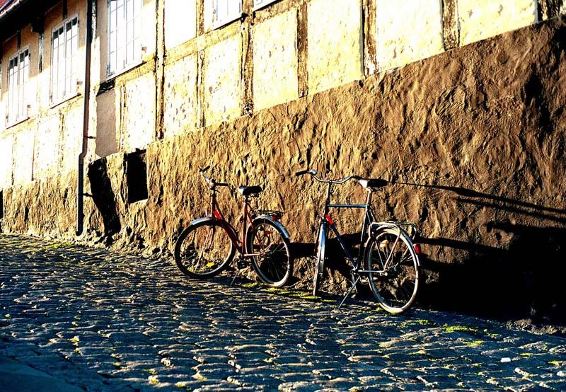 Bikes at wall