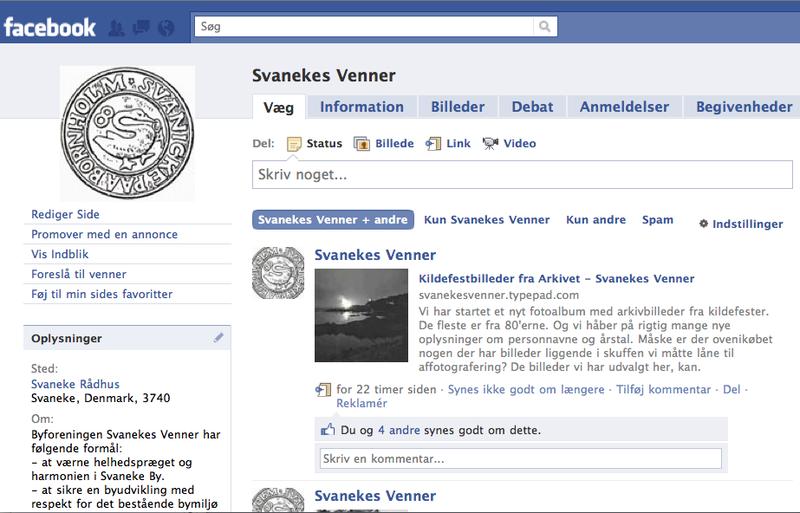FaceBook Skærmbillede