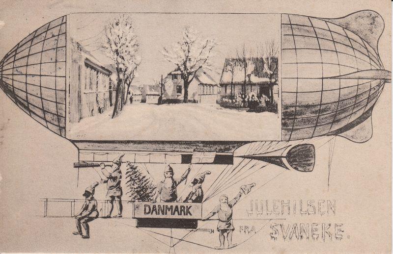 Julekort Svaneke1910