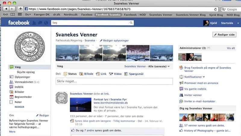 Svanekes Venner FaceBook