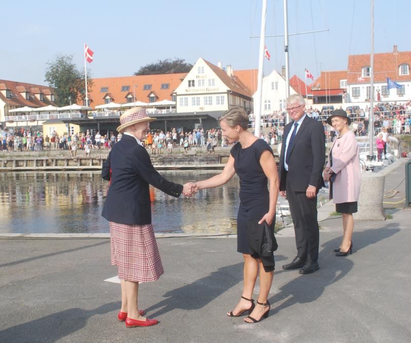 Dronning - Borgmester velkomst i Svaneke 2017