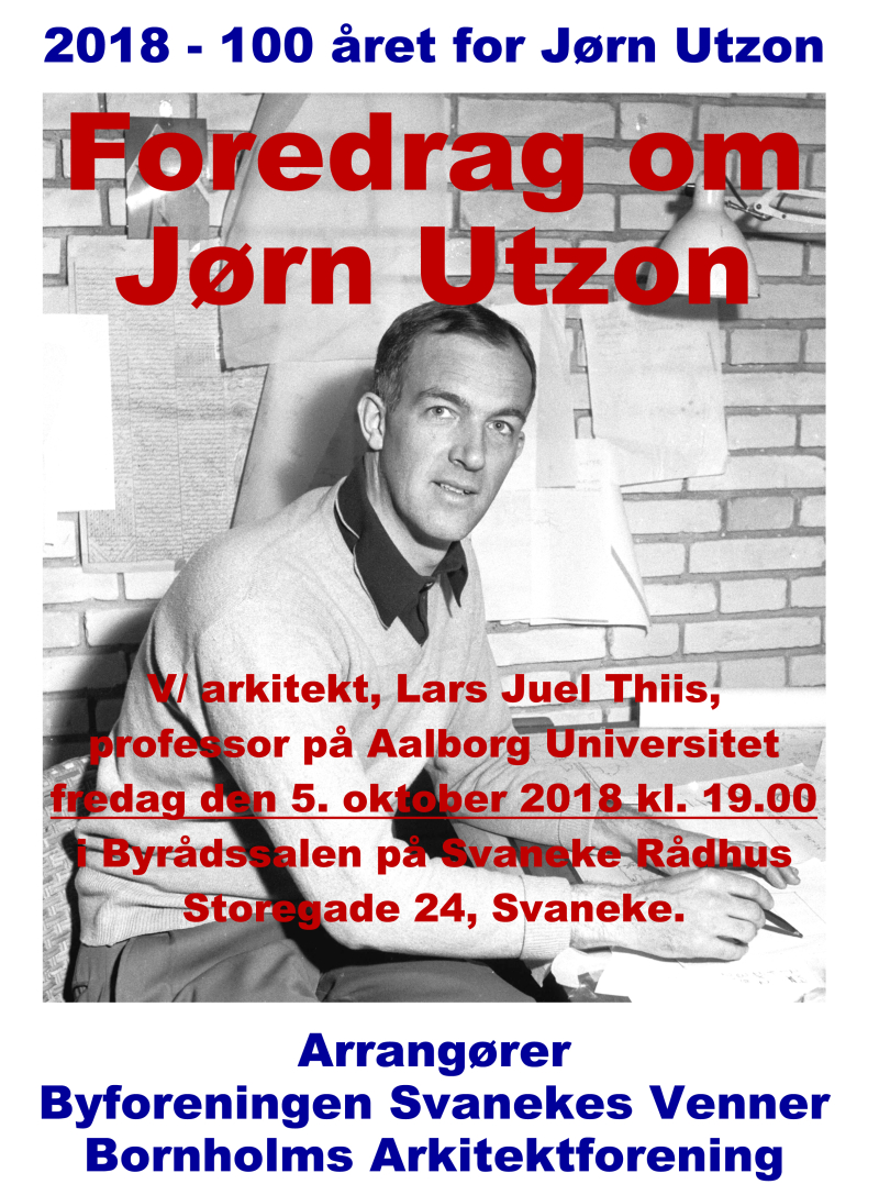 Plakat til Utzon-møde 05-10-2018