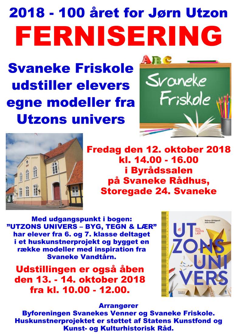 Plakat til Utzon-udstilling 12-10-2018