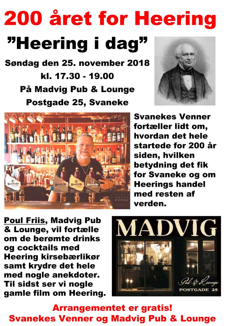 Plakat - 200 året for Heering - Madvig Pub & Lounge 25-11-2018