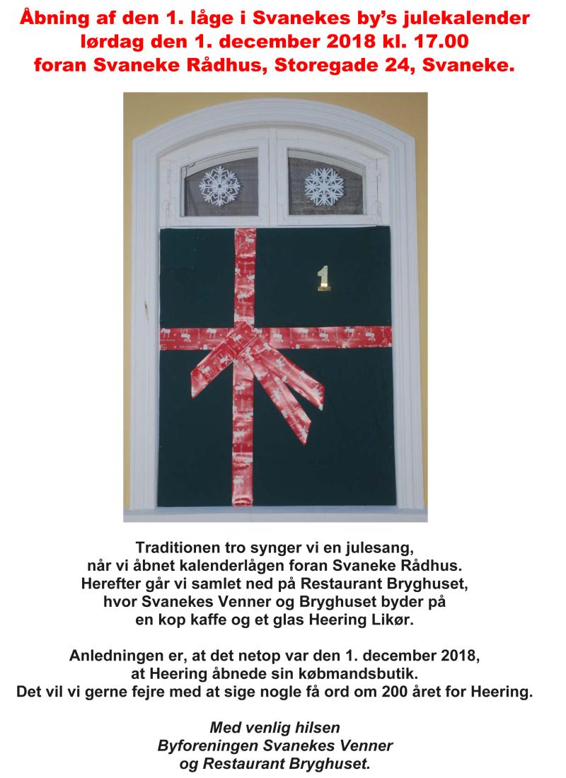 Åbning af kalenderlåge på Rådhuset 01-12-2018