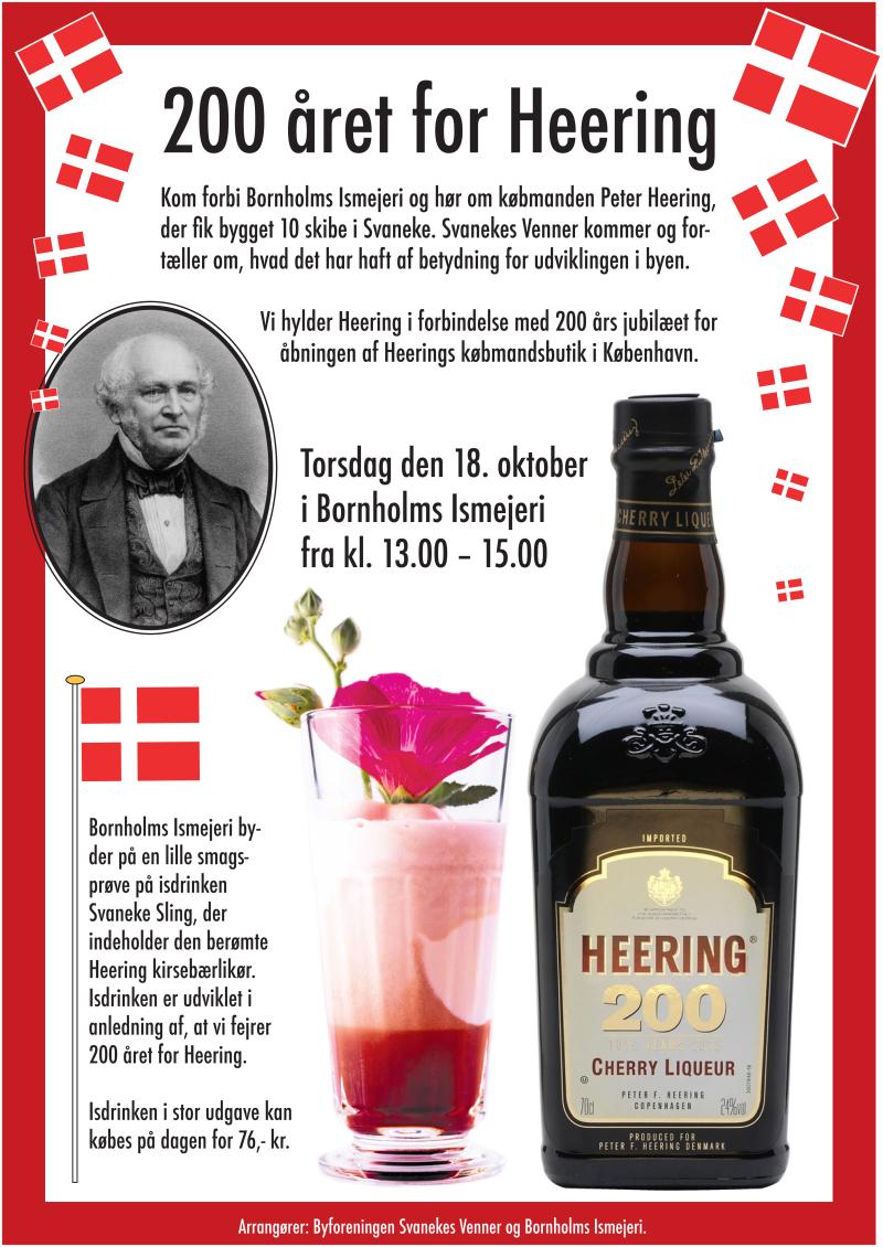 Plakat til 200 året for Heering - Bornholms Ismejeri