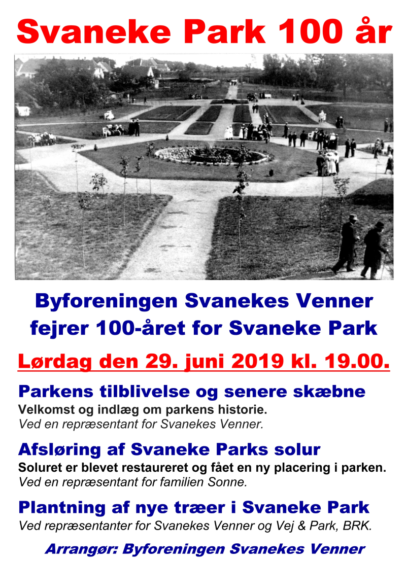 Svaneke Park 100 år  - plakat