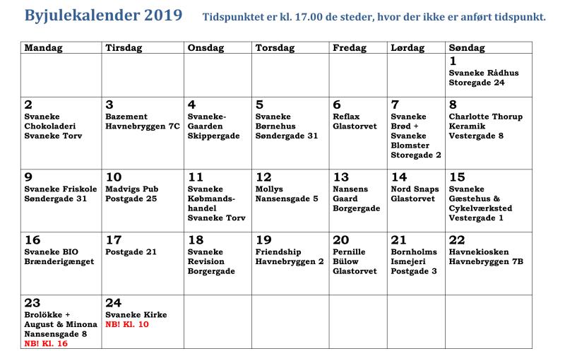 Byjulekalender 2019 kalender