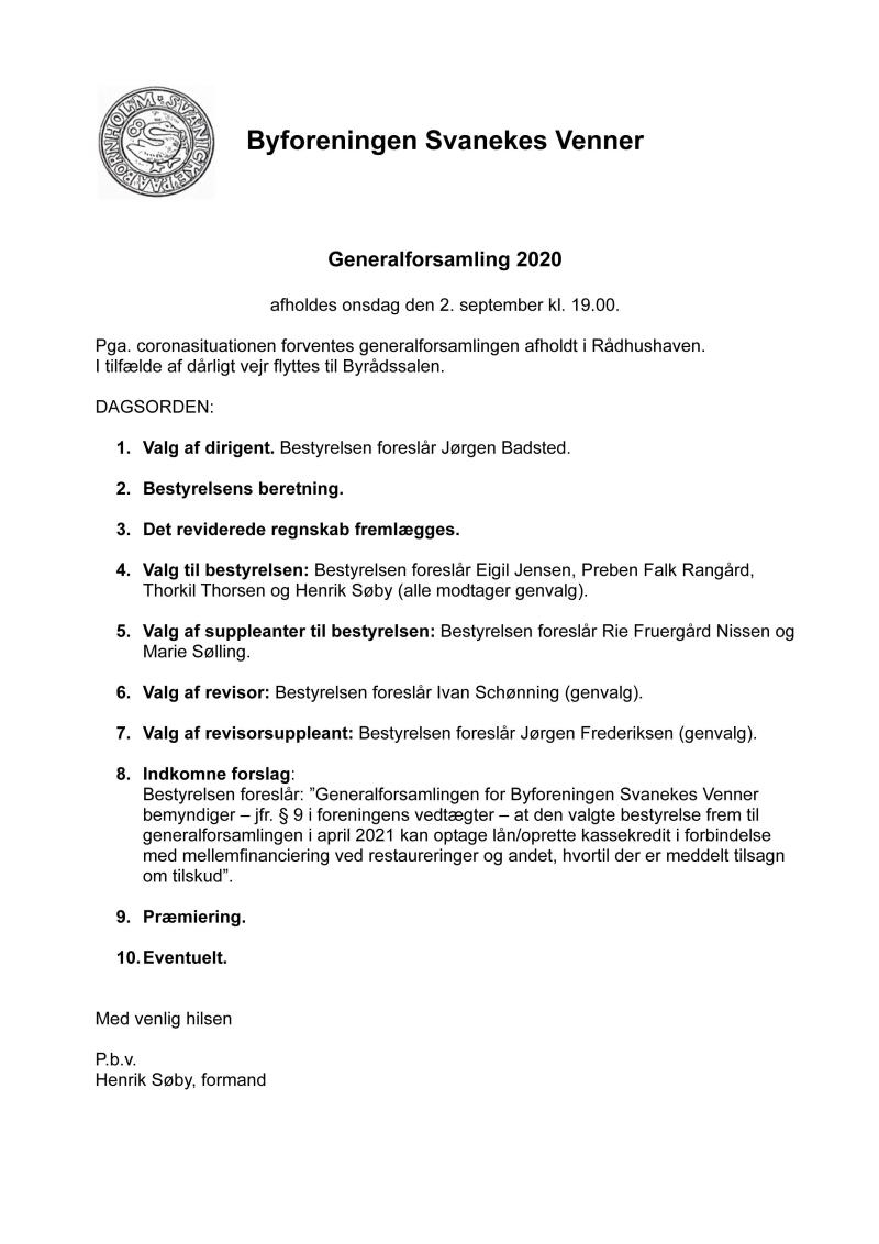 Svanekes Venner Indkaldelse til Generalforsamling 2020 copy_2